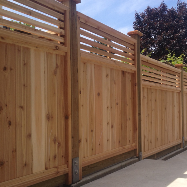 Square Lattice Cedar Fence Panels Big Red Cedar